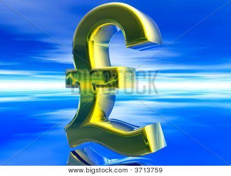 Gold uk Gbp Pfund Sterling Währungssymbol
