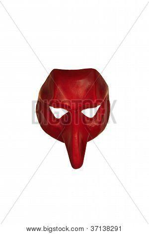 Red Venetian Mask