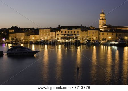 Krk Old Town At Night