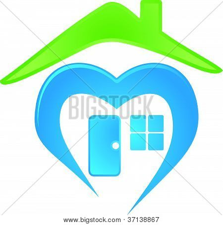 vector image of a house logo