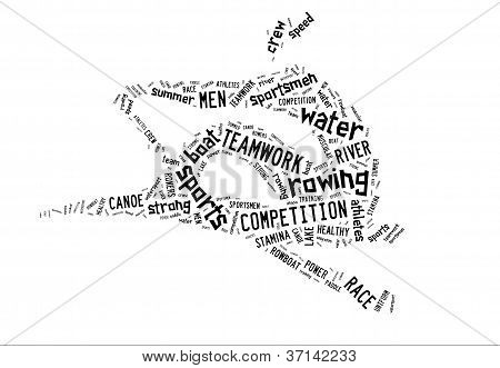 Rowing Boat Pictogram On White Background
