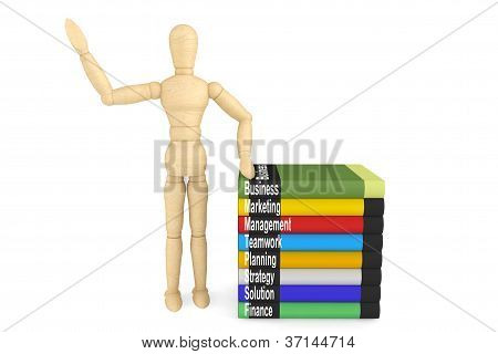 Wooden Dummy With Books