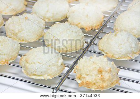 Cookies de Natal de macaroons de coco