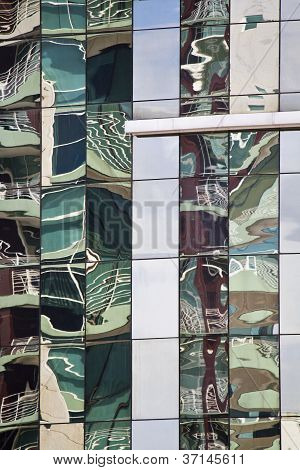 Glass Detail Of Modern Building