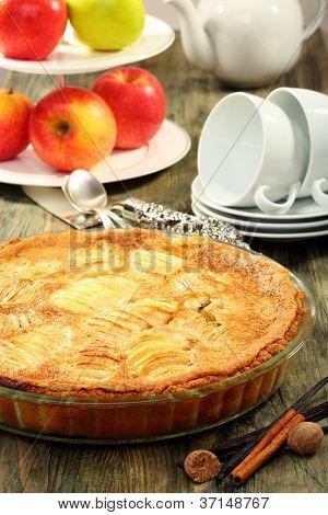 Alsatian Apple Pie.