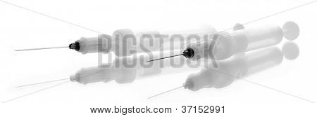 syringes monovet isolated on white