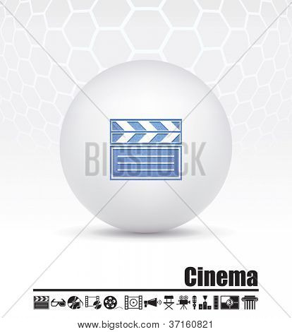 Vector icons on the theme of the film industry