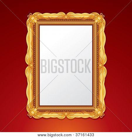Vector Gold Vintage Picture Frame