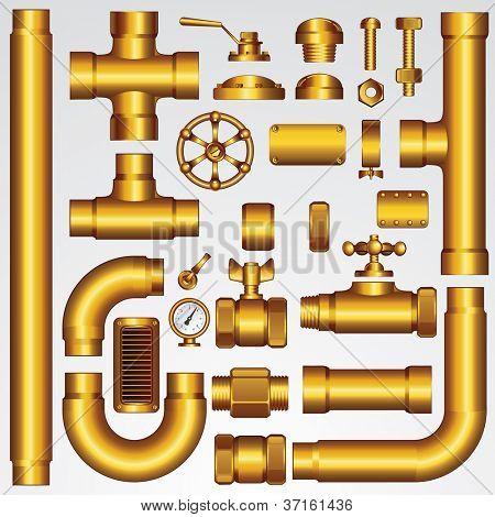 Golden Vector Pipeline Elements