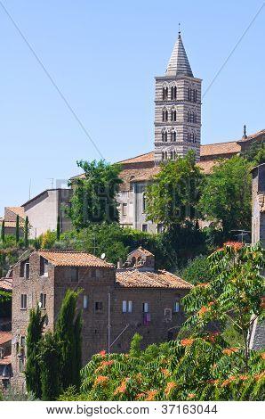 Panoramic view of Viterbo. Lazio. Italy.