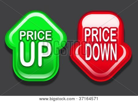Price UP / Price Down Arrows