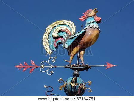 Weather Vane In The Form Of A Cock