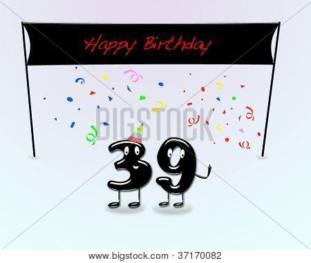 Fiesta de cumpleaños número 39.