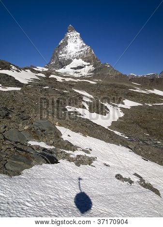 Matterhorn The Switzerland Symbol And The Shadow Of Swiss Gondola