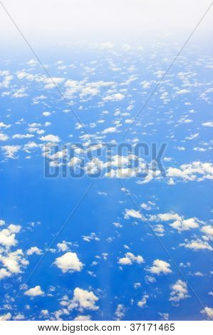 Cloud Over Ocean Seen From Air