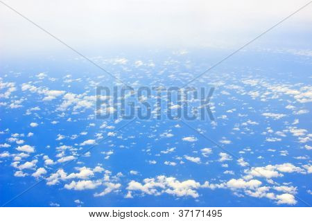 Cloud Over Ocean Seen From Plane