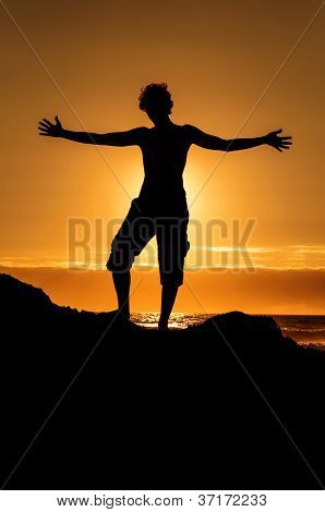 Hugging the sunset