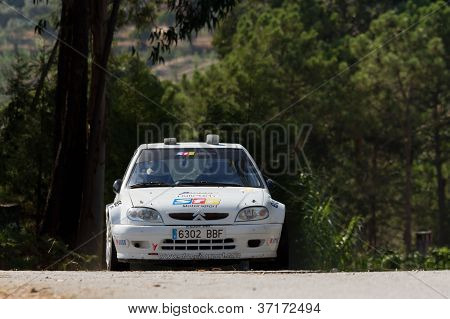 Pombal, Portugal - September 22: Pedro Leal Drives A Citroen Saxo During Rally Centro De Portugal 20
