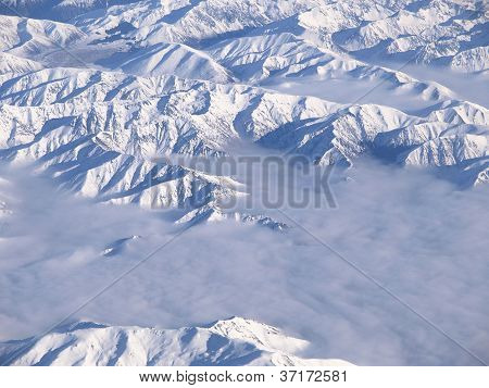 Southern Alps Of New Zealand From Above.