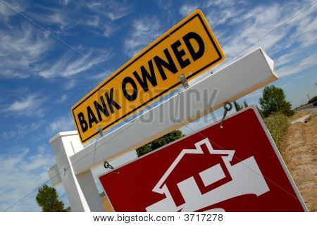 Sinal de casa Foreclosure