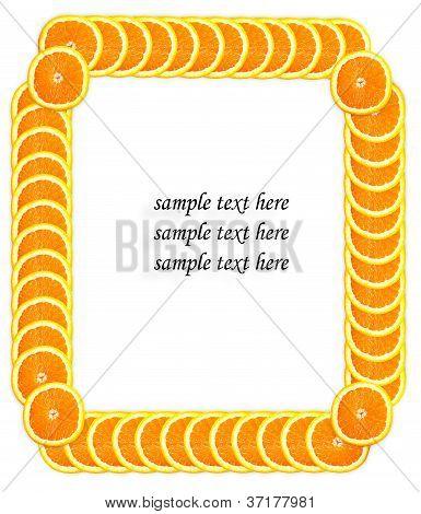 Fatia de laranja, fazendo o quadro de texto de exemplo