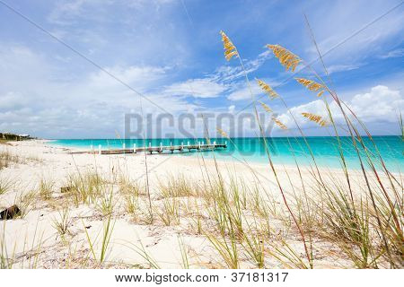 Beautiful beach at Providenciales island in Turks and Caicos
