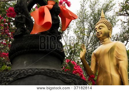 Buddha Garden Bangkok Temple Thailand