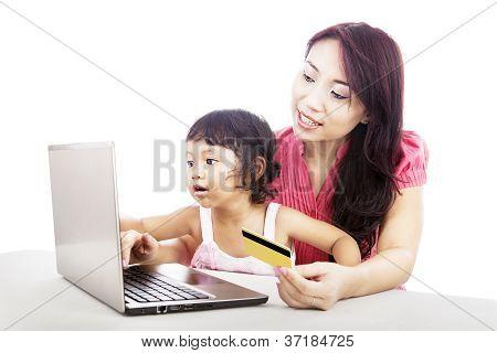 Familie Online-Shopping