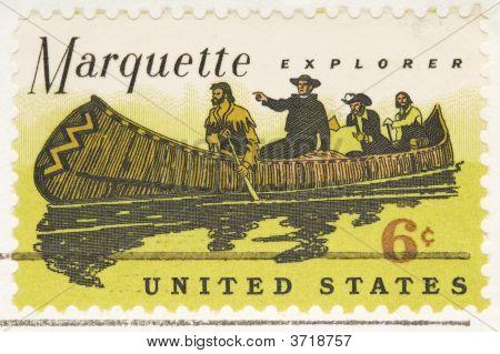 Vintage 1968 Stamp Marquette Explorer