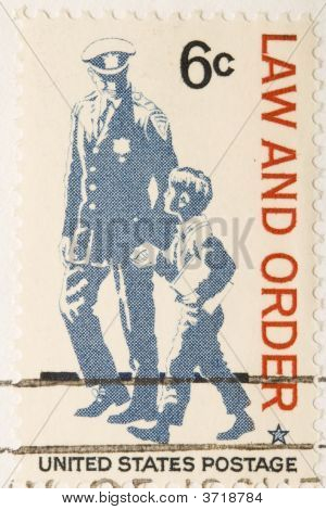 Vintage 1968 Stamp Law And Order