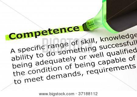 Competencia remarcado en verde
