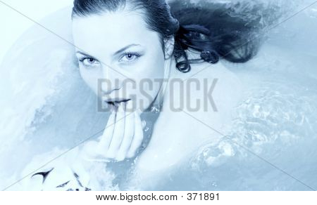 Girl In A Bath