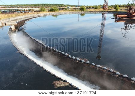 Industrial Round Sedimentation Reservoir Of Wastewater Treatment