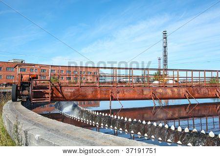 Rotated Mechanism Of Sedimentation Sewage Tank