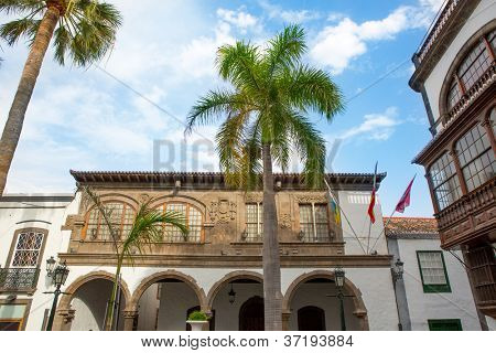 Santa Cruz de La Palma Plaza Espana town hall ayuntamiento Canary islands