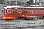 picture of muni  - This is one of the famous Muni street car in San Francisco California - JPG