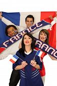 Four avid French sport fans
