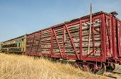 picture of boxcar  - Old railroad stock car - JPG