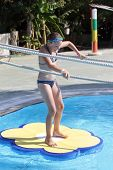 image of tarzan  - Child is playing in tarzan pool Water Park Rhodes - JPG