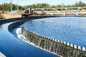 picture of sedimentation  - Water overflow from the big sedimentation drainages round form
