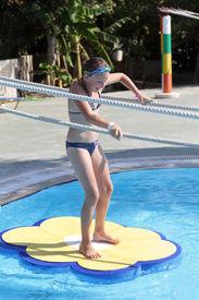 pic of tarzan  - Child is playing in tarzan pool Water Park Rhodes - JPG
