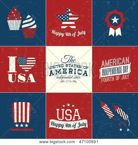 Independence Day Cards Set