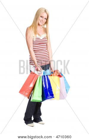 Shopping Caucasian Girl