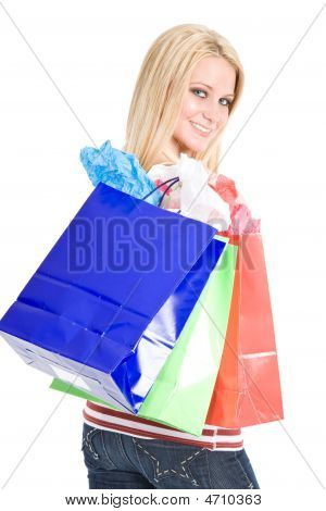 Shopping Caucasian Girl