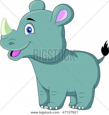 Dibujo Animado Rinoceronte Dibujos Animados de Rhino