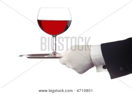 Red Wine On Tray
