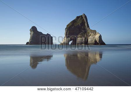 Archway Islands near Wharariki Beach, New Zealand