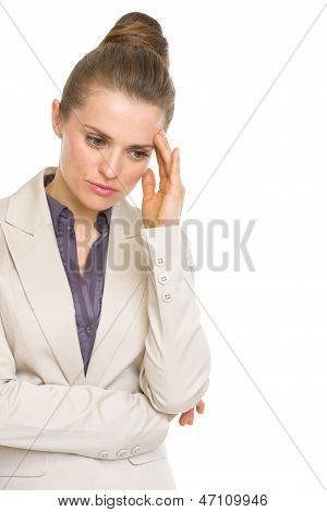 Portrait Of Concerned Business Woman