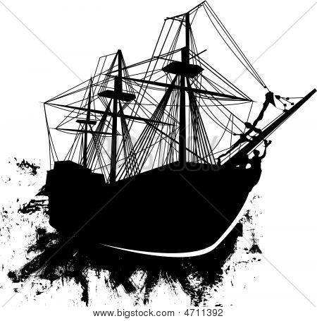 Grunge-pirate-ship