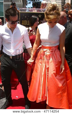 LOS ANGELES - JUN 20:  Casper Smart, Jennifer Lopez at the Hollywood Walk of Fame star ceremony for Jennifer Lopez at the W Hollywood Hotel on June 20, 2013 in Los Angeles, CA